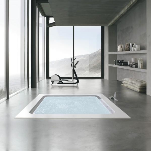 Hafro vasca idromassaggio bolla q sfioro 190x190 progetto bagno s r l - Arredo bagno savona ...
