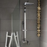 Banos10 Colonna doccia NEVADA soffione orientabile H 107/147