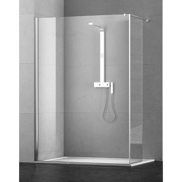 Pdp box doccia kubi pannello fisso aletta 40cm - Ante per doccia ...